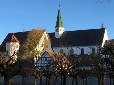 Blick auf das Kloster Heiligkreuztal