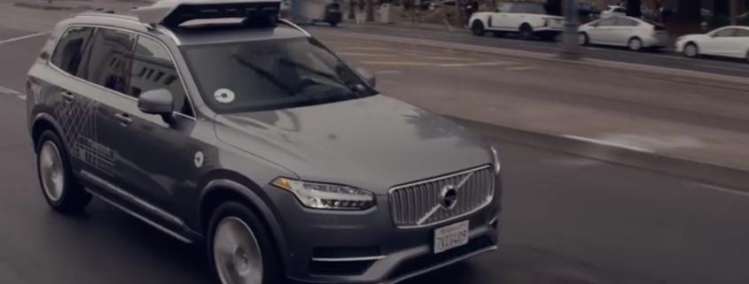 Uber testet selbstfahrende Autos auf den Straßen. Foto: screenshot Uber
